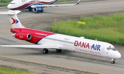 Dana Air Speaks On Aircraft Door That Fell Off
