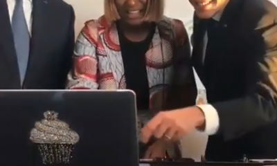 Cuppy teaching Senegalese and French presidents how to DJ (Photos/Video)
