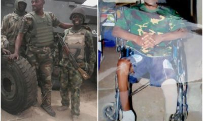 Nigerian Soldier Who Lost His Leg While Fighting Boko Haram Accuses Nigerian Army Of Neglect