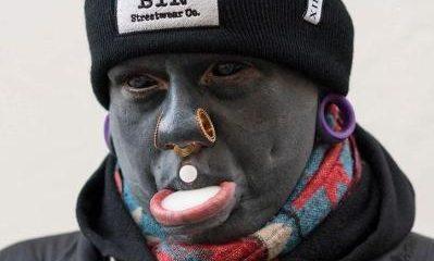 Tattoo Addict Inks His Entire Body Black, Including His Eyeballs