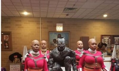 Grand Entrance! Pastor And Choristers Storm church In Black Panther Outfits