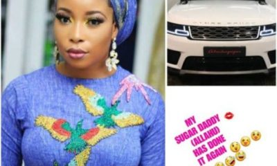 Actress Liz Anjorin Thanks Her Sugar Daddy Over His Range Rover Autobiography Gift