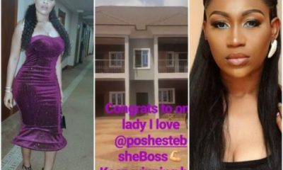 Actress Onyii Alex Congratulates Ebube Nwagbo On Her New House