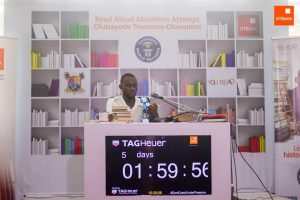 GTBank's YouREAD Initiative: Nigerian Reads Aloud For Over 5 Days Straight, Bids For Guinness World Record
