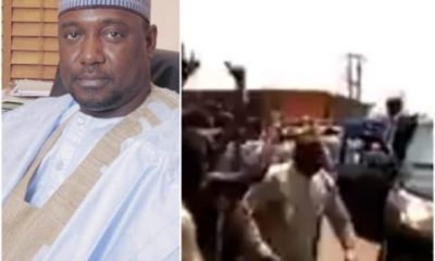 Governor Bello Of Niger State Stoned During A Visit To Bida LGA