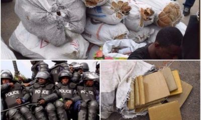 Lagos Police Beg Drug Peddlers To Come And Claim Their Bags Of Weed