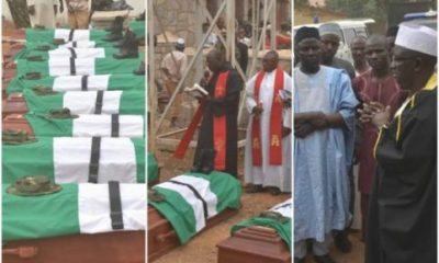 Nigerian Army Buries 11 Soldiers killed By Bandits, El-Rufai Donates N5.5m