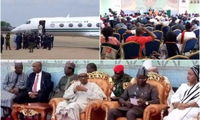 President Buhari Arrives Benue State, Meets With Stakeholders Over killings