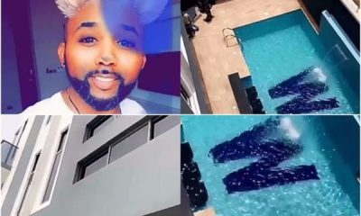 Singer Banky W Shows Off His New Lekki Home
