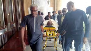 Olisa Metuh Arrives Court In Wheelchair As Judge Adjourns Ruling On Request To Travel Abroad For Treatment