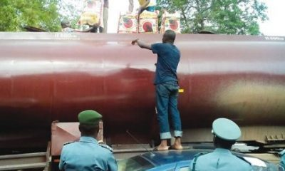 Customs Intercepts 460 Bags of Rice Concealed In Petrol Tanker