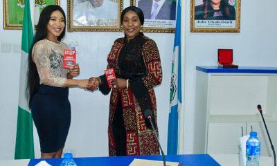 Tonto Dikeh Named Brand Ambassador For NAPTIP Fighting Human Trafficking