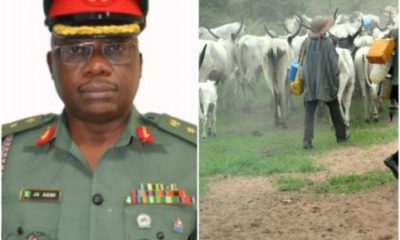 Killer Herdsmen Are Sponsored' -Nigerian Army