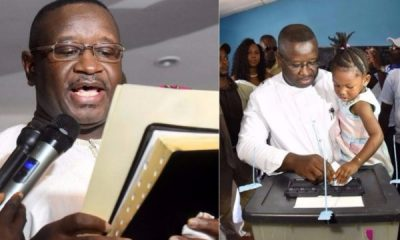 """Opposition candidate and former military junta leader Julius Maada Bio was sworn in as Sierra Leone's new president late on Wednesday, just hours after the elections commission announced his victory in a tight run-off poll. Opposition leader Julius Maada Bio sworn in as Sierra Leone president Lailasnews He now faces the difficult task of rebuilding the impoverished West African nation's economy that was dragged down by the world's deadliest Ebola epidemic and a global slump in commodity prices. Representing the Sierra Leone People's Party (SLPP), Maada Bio won 51.81 percent of votes cast in the March 31 poll, according to results announced by the National Electoral Commission (NEC) on Wednesday. According to The Star, He defeated former foreign affairs minister and ruling All People's Congress (APC) candidate Samura Kamara, who had held a slight lead based on partial results earlier in the day but in the end, garnered 48.19 percent. Dressed in traditional white robes, Julius Maada Bio was sworn in just before midnight at a hotel in the capital Freetown, raising in the air the Bible upon which he swore the oath of office to the cheers of supporters. """"This is the dawn of a new era. The people of this great nation have voted to take a new direction,"""" he said in a speech following the short ceremony in which he made an appeal for national unity. """"We have only one country, Sierra Leone, and we are all one people."""" Opposition candidate Julius Maada Bio sworn in as new Sierra Leone president Lailasnews Julius Maada Bio, who briefly ruled Sierra Leone as head of a military junta in 1996, replaces outgoing President Ernest Bai Koroma, who could not seek re-election due to term limits. The largely peaceful election process has come as a relief for the country of 7 million people, who in the 1990s endured a brutal civil war fuelled by the diamond trade and notorious for its drug-addled child soldiers and punitive amputations. SLPP supporters packed into the NEC headquarters on"""