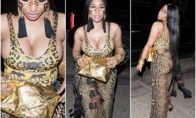 Photos: Nicki Minaj's Boobs Spill Out Of Her Leopard-Print Bodysuit At Coachella