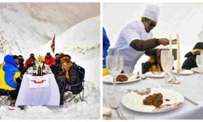 World's highest executive dinner party held on Mountain Everest