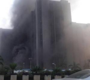 Fire Outbreak At CBN Headquarters Abuja