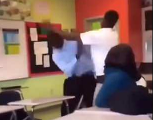 Teacher Body-Slams Pupil Who Punched Him In The Face Onto A Desk And Beats Him (photos/videos)