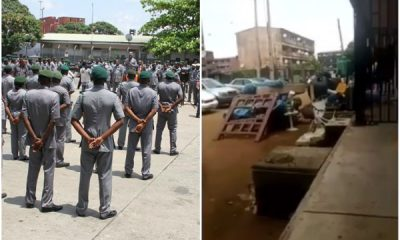 VIRAL Customs officials forcefully evicted from their flats in Lagos