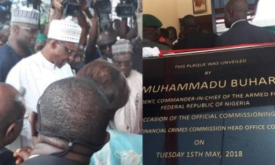 President Buhari Commissions EFCC's Newly Built N24bn Headquarters In Abuja