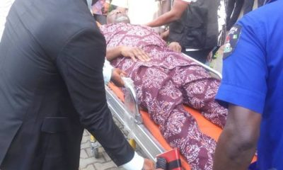 PHOTOS: Senator Melaye Brought To Court On A Stretcher By Police