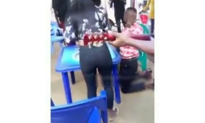 A yet to be identified Nigerian guy has just been humiliated in public after he went down on his knee to propose to his girlfriend only to get a slap for forgetting the ring. The video which has since gone viral show the young man on his knees saying all the emotional words only to deep his hands into his pocket and realized that he was not with the 'ring'. The lady was furious at the whole thing, she then slowly moved towards the young man saying 'are you serious?', then she landed a heavy slap on his cheek and walked out on him. What a moment for the young man, thoughts of where the ring would be must have been going through his mind when the slap came in.