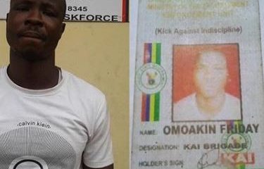 Lagos State Task Force Arrests Togolese Man For Extortion And Impersonation
