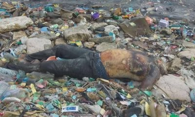 Graphic Photos: Decomposing Body Of An Unidentified Man Found Floating In The Lagoon In Apapa