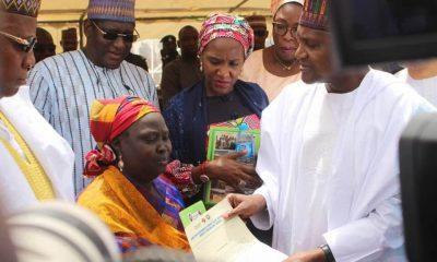 Photos: Aliko Dangote Donates 200 Housing Units To IDP Widows In Borno