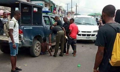 Police Officers Allegedly Brutalise Driver In Rivers State, Strip Him For Refusing To Bribe Them
