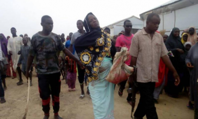 GRAPHIC PHOTOS! Woman Apprehended While Trying To Dump Her Dead Baby In IDP Camp, Borno State