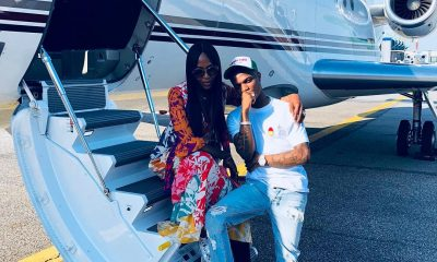 Naomi Campbell Takes Wizkid On Her Private Jet To Italy (Photos)