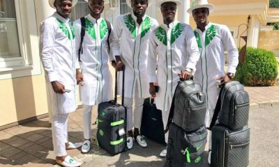 Despite being voted as the team with the most stylish jersey at the world cup, the Super Eagles are not done with fashion yet as they are spotted wearing ankara material at the airport en route Russia.