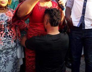 CELEBRITY Turkey Based Nigerian Footballer, Ofoedu Gifts His Mom A Porsche Car At His House Warming Party (Photos)