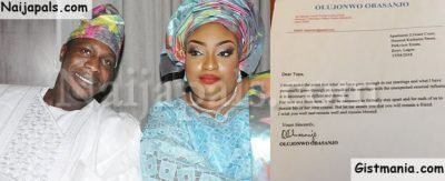 Jonwo Obasanjo's Divorce Lawsuit Against His Wife Get Counter-Suit By Tope Adebutu