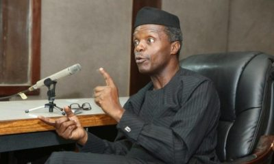 VP Osinbajo Escapes Helicopter Mishap