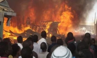 Gas explosion razes 15 shops in Kaduna State