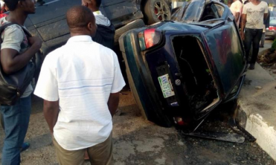 Photos From Accident Involving Multiple Vehicles In Port Harcourt