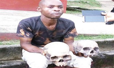 ''I'm A Licensed Herbalist, The Police Has No Right Arresting Me'' Man Arrested With Two Human Skull Says