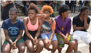 Lovers Who Traffic Young Ladies To Lagos For Prostitution, Force Them To Sleep With Seven To Ten Men Daily Arrested(photos)