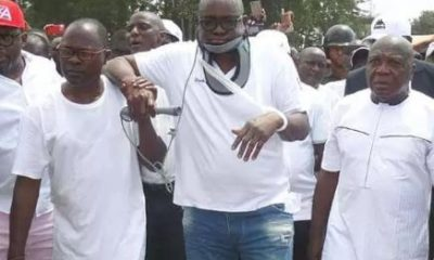 '1,000 Security Men Are Holding Fayose Hostage, All His Mobile Lines Blocked' – Governor Fayose's Brother Alleges