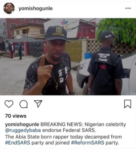 Ruggedman Drags Assistant Commissioner Of Police, Yomi Shogunle After He Posted Fake News About Him