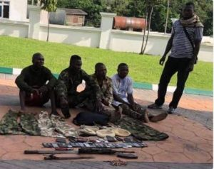 Nigerian Army Arrest Six Armed Robbery And Kidnap Suspects Camouflaged In Military Outfits In Kogi State