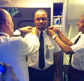 Nigerian Man Who Joined The Aviation Industry As A Cleaner Becomes A Captain