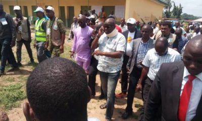 Fayose Arrives Polling Booth In Neck Brace