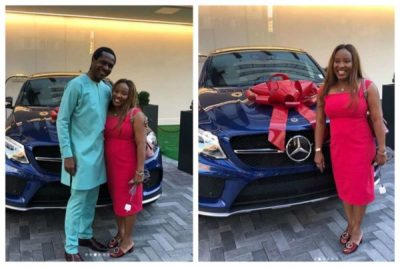 Tonye Cole Surprises His wife With A Mercedes SUV On Their Wedding Anniversary