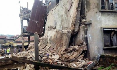 No Less Than Two Persons Affected After Weakened 3-Storey Building Collapses In Ibadan