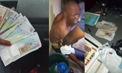 Police officer arrested for extortion after he was set up with marked N120k(photos/video)