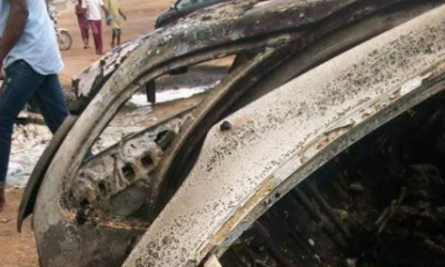 Graphic Photos From Fatal Accident Where 3 Persons Were Burnt Beyond Recognition In Kogi