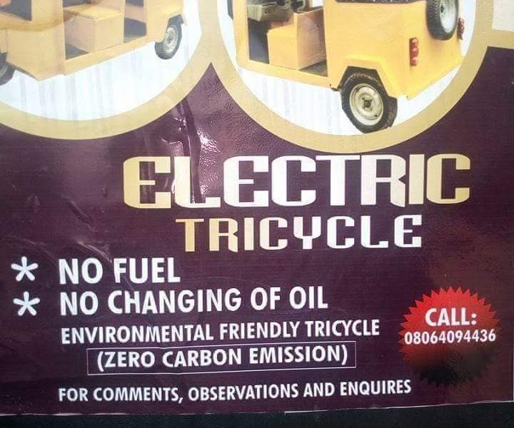 Photos: Electric Tricycle Built In Aba